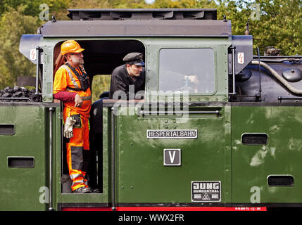 locomotive of the Hesper Valley Railway, Essen, Ruhr Area, North Rhine-Westphalia, Germany, Europe - Stock Photo