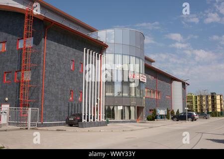 Vityazevo, Russia - April 22, 2016: Indoor sports and gaming complex Vityaz in the resort village Vityazevo, a suburb of Anapa - Stock Photo