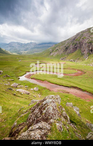 Aguas Tuertas in Hecho valley, Pyrenees, Huesca, Spain - Stock Photo
