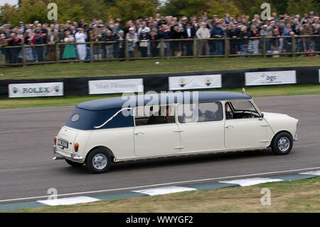 Mini stretch limousine at 2009 Goodwood revival meeting. - Stock Photo