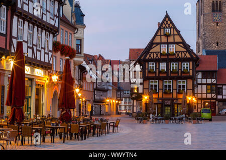 historical old town of Quedlinburg - Stock Photo
