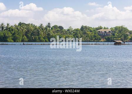 The Hikkaduwa Lake in the north-east of the same touristy town Hikkaduwa - Stock Photo