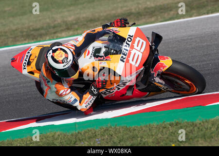 JORGE LORENZO, SPANISH RIDER NUMBER 99 FOR REPSOL HONDA TEAM IN MOTOGP  during Friday Free Practice (fp1-fp2) Of The Motogp Of San Marino And Riviera - Stock Photo