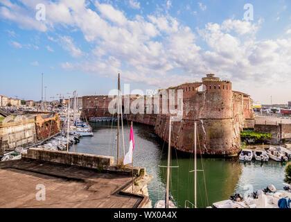 Fortezza Vecchia, Livorno, Tuscany, Italy, Europe - Stock Photo
