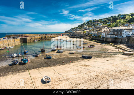 The picturesque fishing village of Mousehole, Cornwall, England, United Kingdom, Europe - Stock Photo