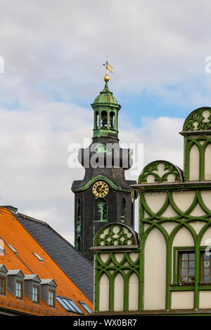 historic old town of Weimar in Thuringia - Stock Photo