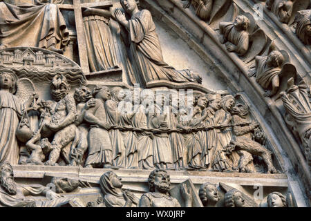 Notre Dame de Paris Cathedral Gothic style. Architectural details - Stock Photo