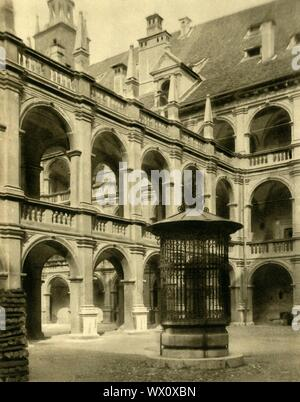 "The Landhaus, Graz, Austria, c1935. Courtyard of the Styrian regional parliament, designed by Domenico dell'Allio and built 1557-1565 in Italian Renaissance style. From ""Österreich - Land Und Volk"", (Austria, Land and People). [R. Lechner (Wilhelm Müller), Vienna, c1935] - Stock Photo"
