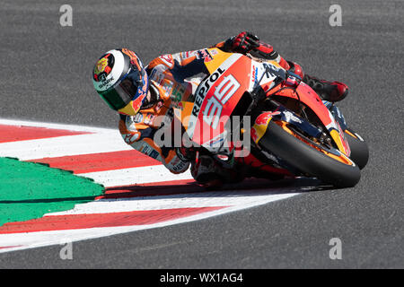 JORGE LORENZO, SPANISH RIDER NUMBER 99 FOR REPSOL HONDA TEAM IN MOTOGP  during Saturday Free Practice & Qualifications Of The Motogp Of San Marino And - Stock Photo