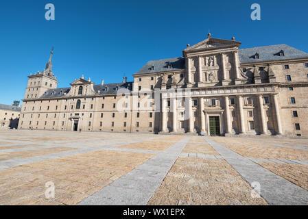 Royal monastery of San Lorenzo de El Escorial, Madrid, Spain. - Stock Photo