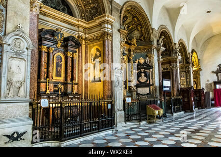 The interior of Duomo di Torino ,Turin Cathedral, a Roman Catholic cathedral in Turin dedicated to Saint John The Baptist ,Turin Italy - Stock Photo
