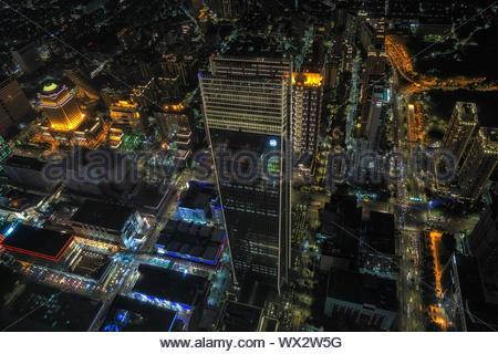 Night view from Taipei 101 - Stock Photo