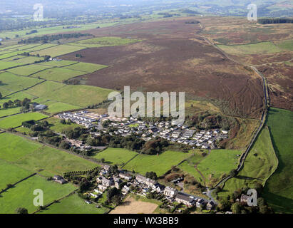 aerial view of Dales View Park Ltd in Barnoldswick, Lancashire, UK - Stock Photo