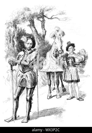 Engraving of Charles III, Duke of Bourbon (1490 – 1527) French military leader, the Count of Montpensier, Clermont and Auvergne, and Dauphin of Auvergne from 1501 to 1523, then Duke of Bourbon and Auvergne, Count of Clermont-en-Beauvaisis, Forez and La Marche, and Lord of Beaujeu from 1505 to 1521. He was also the Constable of France from 1515 to 1521. Also known as the Constable of Bourbon, he was the last of the great feudal lords to oppose the King of France himself. - Stock Photo