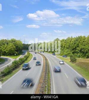 A german highway from above - Stock Photo