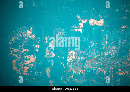 grunge blue wall, highly detailed textured background Stock Photo