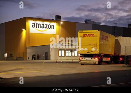 Amazon Logistics Centre DTM2, Dortmund, on the site of the former Westfalenhuette, Germany, Europe - Stock Photo