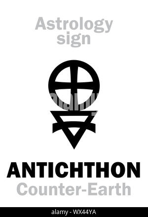 Astrology: Sign of ANTICHTHON (Counter-Earth) - Stock Photo