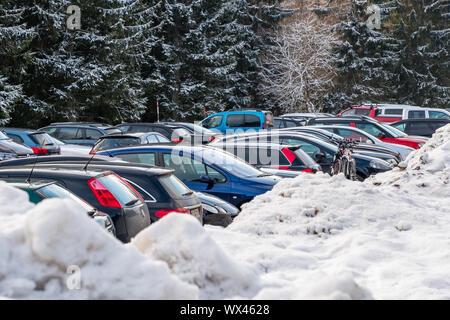 Harz National Park in Winter Oderteich - Stock Photo