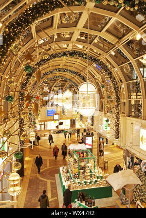 Christmas decoration in the shopping centre Allee Center, Alt-Remscheid, Remscheid, Germany, Europe - Stock Photo