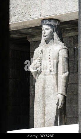Sculpture in the Mausoleum of Petar Petrovic Njegos - Stock Photo