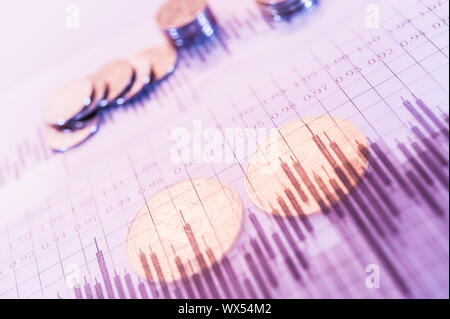 Economy trends virtual digital currency abstract background.