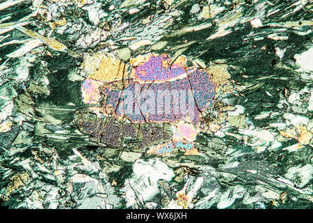 Chlorite schist rock 100x - Stock Photo