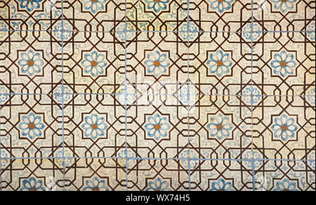 vintage ceramic tiles background, perfect colorful pattern - Stock Photo