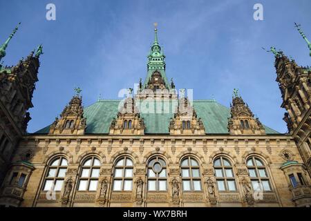 City Hall Hamburg in Germany - Stock Photo