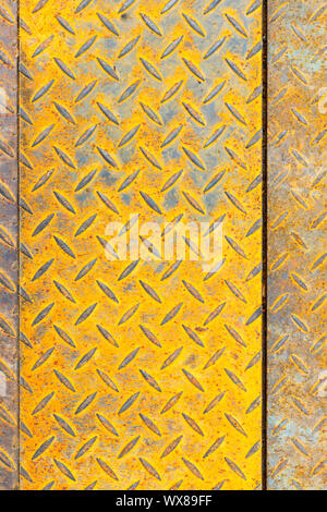 rusty diamond steel plate - Stock Photo