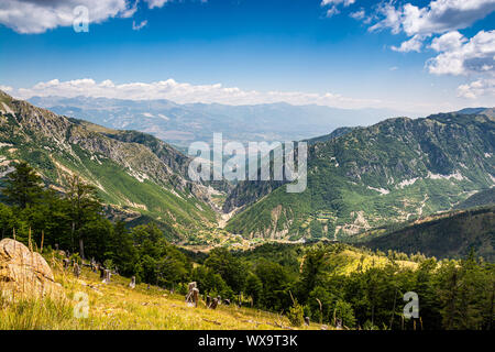 Landscape view on National Park Lure in summer, Albania