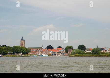 Gorinchem a town in Holland at the river Merwede - Stock Photo