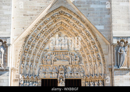 Statues of Notre-Dame de Paris Stock Photo