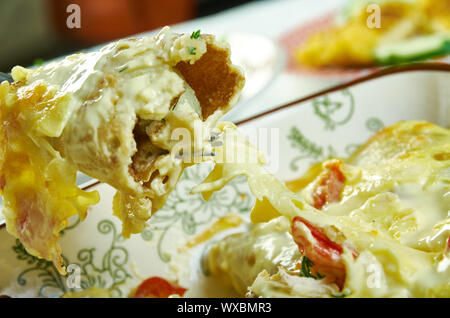 Creamy Pepperjack Chicken Enchiladas - Stock Photo