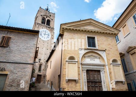 houses of San Severino Marche Italy - Stock Photo