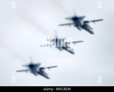 military aircraft in the air - Stock Photo