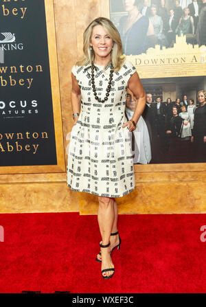 New York, NY - September 16, 2019: Deborah Norville attends the 'Downton Abbey' New York premiere at Alice Tully Hall Lincoln Center - Stock Photo