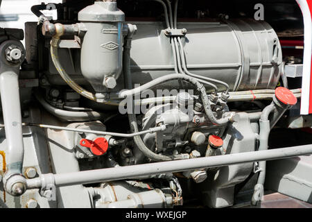 engine block of an old timer classic tractor - Stock Photo