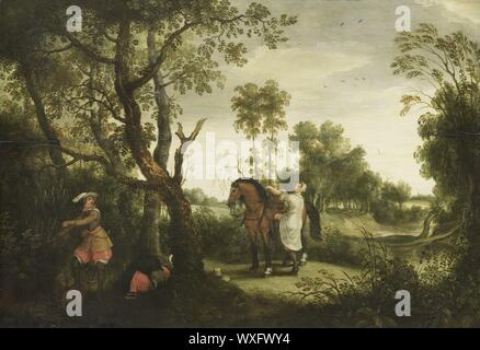 The Punished Robber, Sebastiaan Vrancx, 1600 - 1647.jpg - WXFWY4 - Stock Photo
