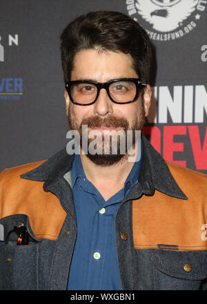 Beverly Hills, Ca. 16th Sep, 2019. Adam Goldberg, at Premiere Of Quiver Distribution's 'Running With The Devil at Writers Guild Theater in Beverly Hills, California on September 16, 2019. Credit: Faye Sadou/Media Punch/Alamy Live News - Stock Photo