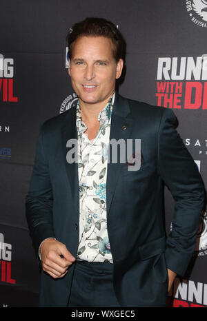 Beverly Hills, Ca. 16th Sep, 2019. Peter Facinelli, at Premiere Of Quiver Distribution's 'Running With The Devil at Writers Guild Theater in Beverly Hills, California on September 16, 2019. Credit: Faye Sadou/Media Punch/Alamy Live News - Stock Photo