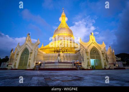 Maha Wizaya Pagoda at Dusk - Yangon, Myanmar / Burma