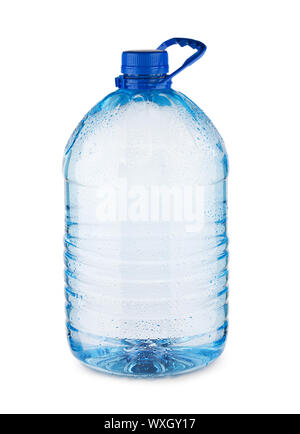 large blue bottle with water isolated - Stock Photo