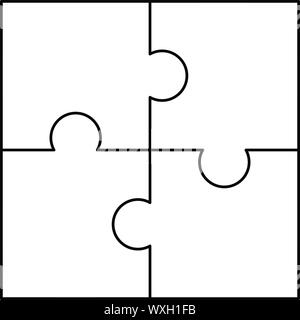 Puzzle pattern. Outline illustration of puzzle vector pattern for web design - Stock Photo