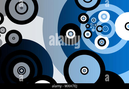 Fractals Abstract as Background With Many Circles - Stock Photo