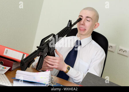 The bookkeeper shot at office on a workplace - Stock Photo