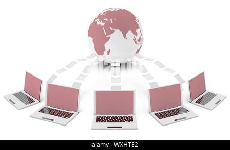 Content Management System in 3d File Sharing Art - Stock Photo