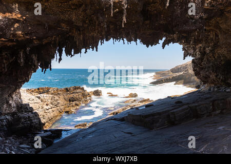 Admirals Arch, Flinders Chase National Park, Kangaroo Island, South Australia, Australia - Stock Photo