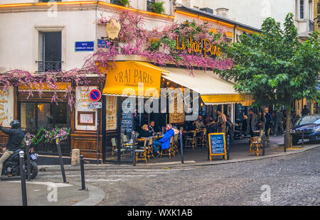 PARIS, FRANCE - 02 OCTOBER 2018: One of many beautiful streets and boulevards in Paris. - Stock Photo