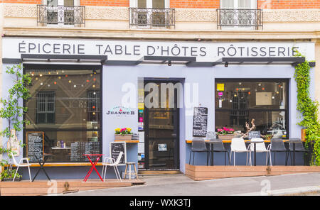 PARIS, FRANCE - 02 OCTOBER 2018: One of many caffes and bistros in Paris. - Stock Photo
